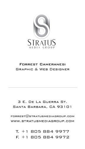 <i>Stratus Media Group</i> business card