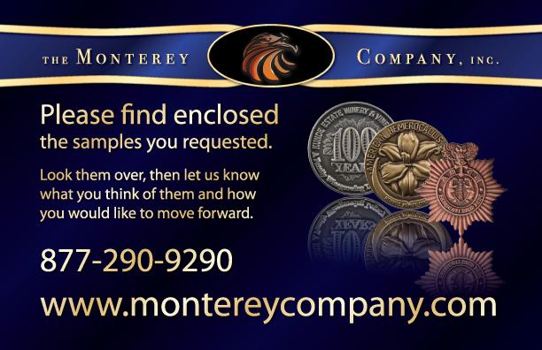 <i>Monterey Company</i> sample card