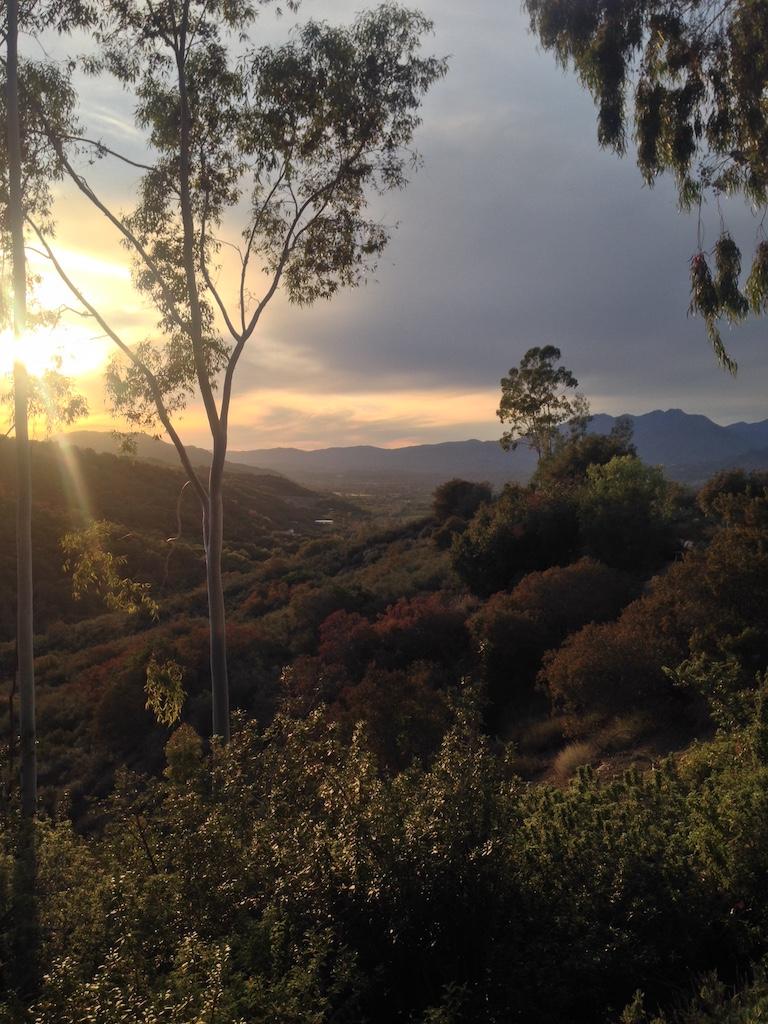 Sunset from Meditation Mount