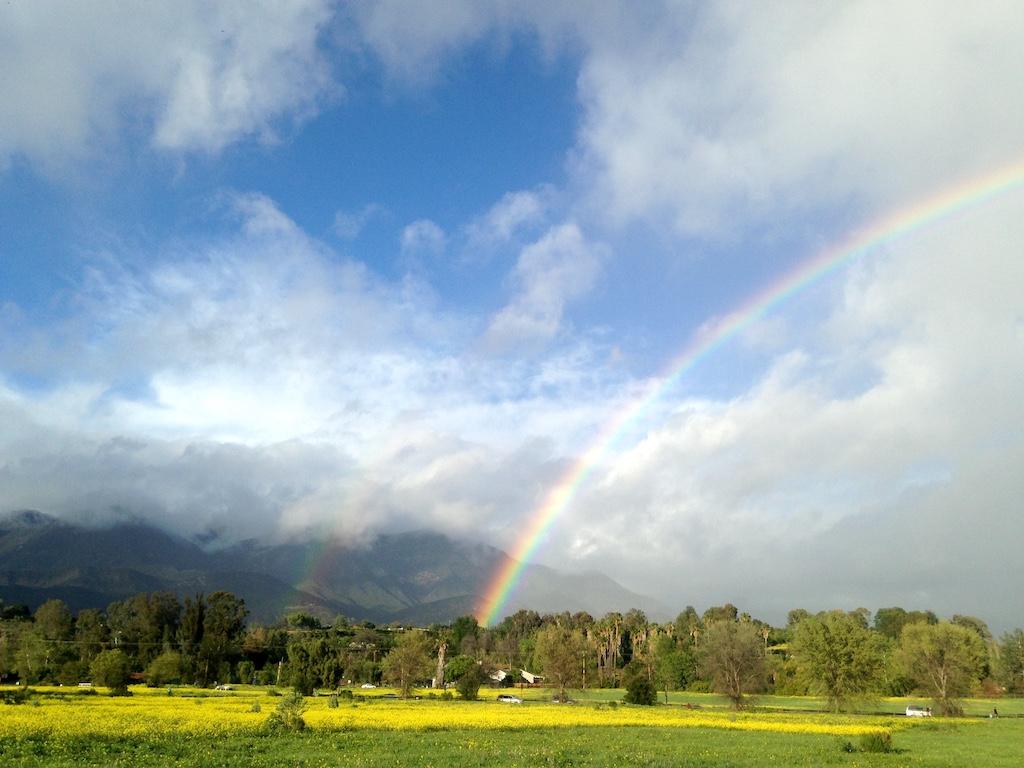 Double rainbow at Ojai Meadows