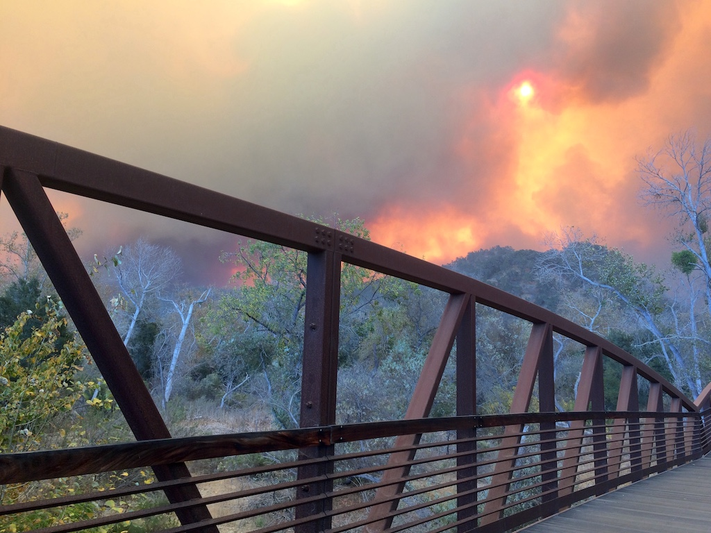 The Thomas Fire at San Antonio Creek