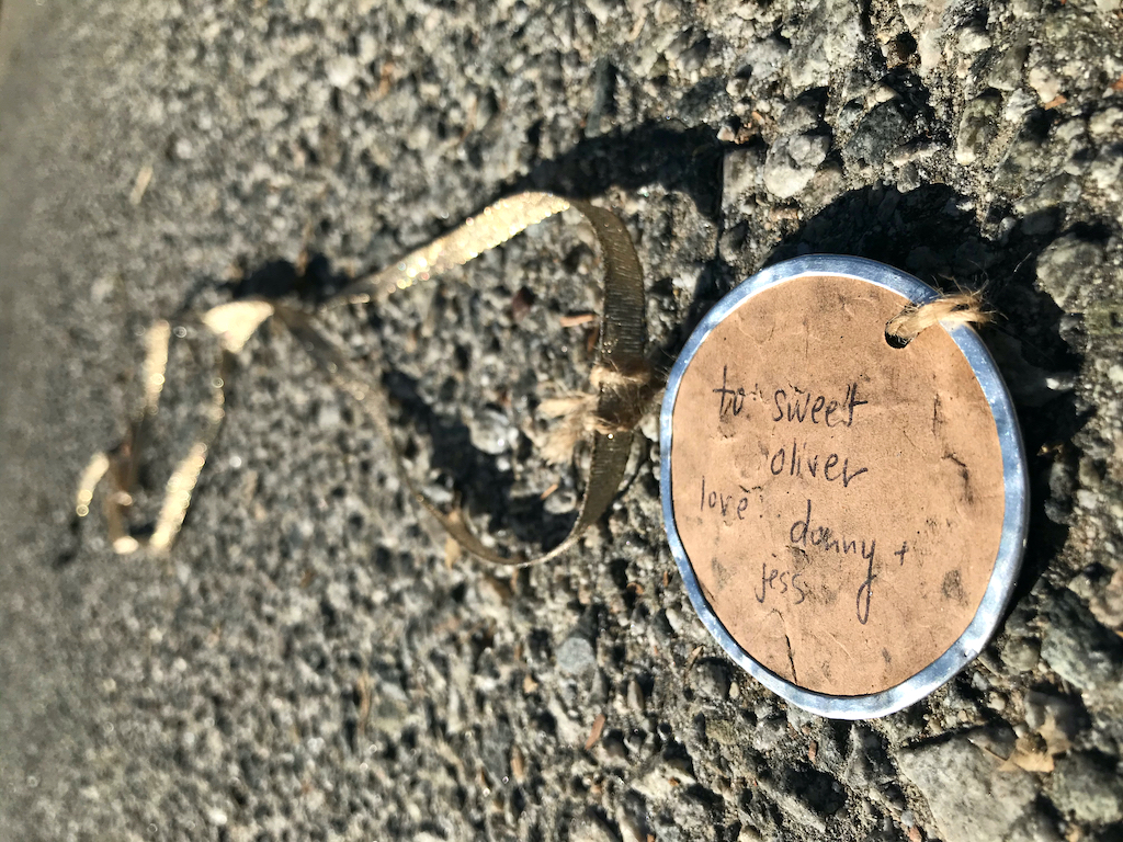 Discarded token of love found lying in the road